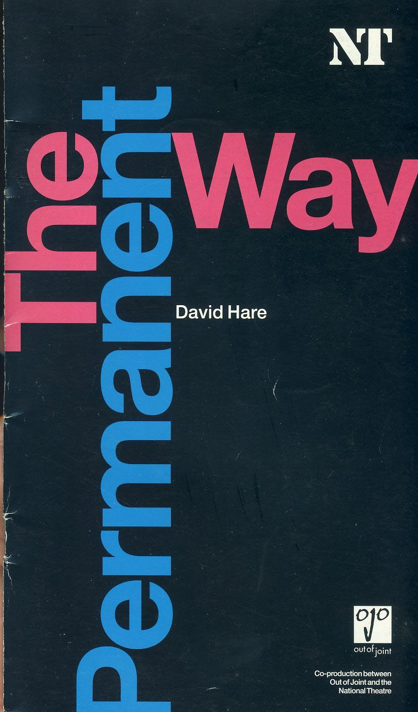 The Permanent Way by David Hare 2004 National Theatre Programme refb100934 Used Programme in Good Condition. Measure approx 13.5cm x 24cm Date written in cover.
