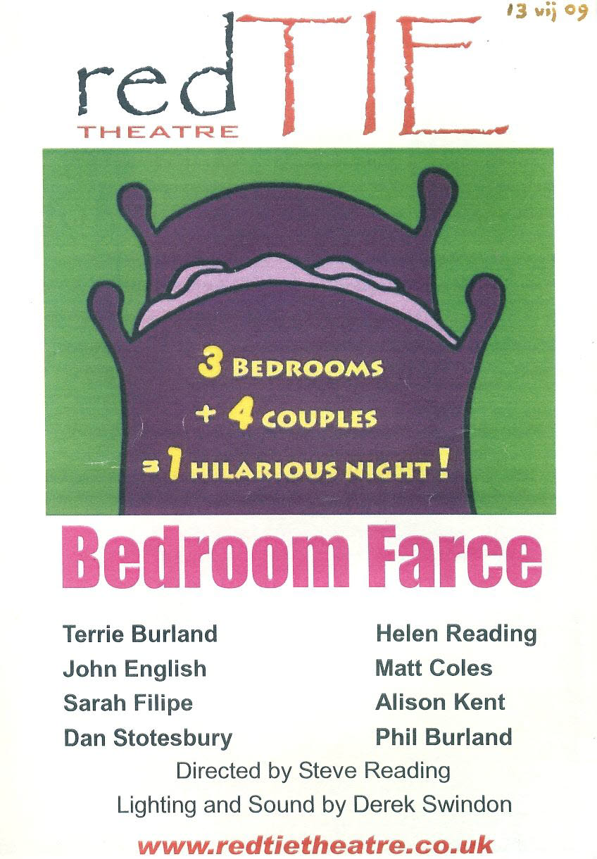 Bedroom Farce 2009 red TIE Theatre leaflet refb101003 Used Programme in Very Good Condition. Measure approx 15cm x 21cm
