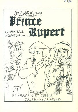 Fearless Prince Rupert 1992 Walton St Mary's & St John's Youth-Fellowship Pantomime 8 page Theatre Programme refb101017 Used Programme in Very Good Condition. Measures approx 14.5cm x 21cm Date written on cover.