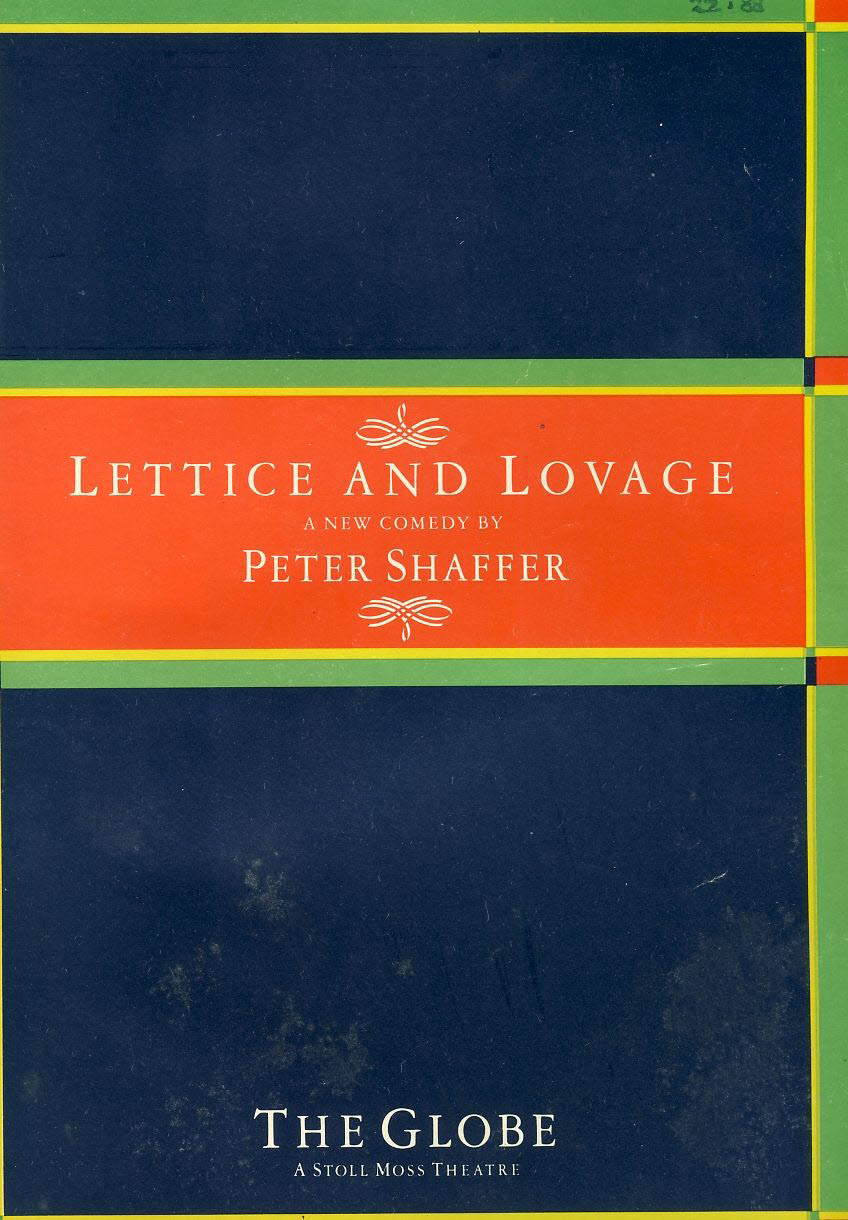 Lettice and Lovage by Peter Shaffer 1988 THE GLOBE Theatre Programme Shaftesbury Avenue MAGGIE SMITH