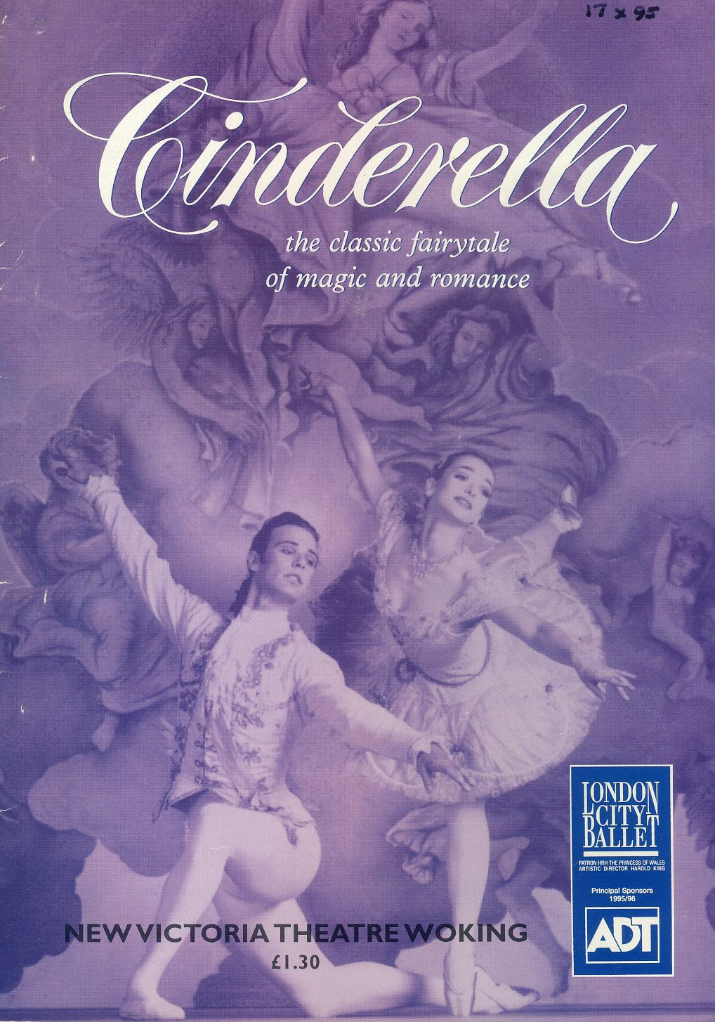 London City Ballet CINDERELLA 1995 Woking New Victoria theatre Programme refb100854 Good Condition. Measure approx 17.5cm x 25cm Date written on cover.