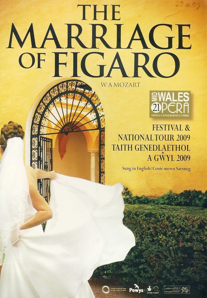 The Marriage of Figaro 2009 Mid Wales Opera National Tour Programme refb100894 Very Good Condition. Measure approx 14cm x 21cm Date written on cover.