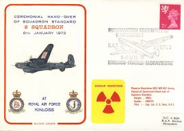 1972 No.8 Squadron Reformation RAF KINLOSS flown Military cover rcd14 Very Good condition with insert card. Small bump to corner tip. Please see larger photo for details.