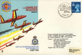 1976 Battle of Britain BFPO RAF flown cover RED DEVILS Les Diables Rouges rcd28 Very Good condition with insert card. Please see larger photo for details.
