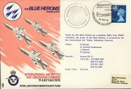 1976 RAF GREENHAM COMMON flown cover BFPO Blue Herons Hunter GA11 rcd33 Very Good condition with insert card. Please see larger photo for details.