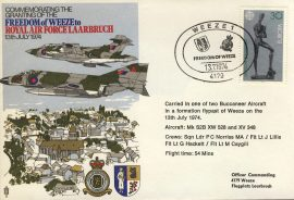 1974 Freedom of Weeze RAF LAARBRUCH Germany flown cover rcd34 Very Good condition. No insert card. Please see larger photo for details.