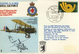 1973 Squadron 18 Animo et Fide Staffel Nr 18 DER RAF flown cover rcd37 Very Good condition. No insert card. Please see larger photo for details.