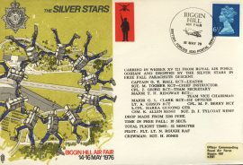 1976 Limited Edition numbered flown cover BFPO SILVER STARS Biggin Hill Air Fair rcd40 Very Good condition with insert card. Please see larger photo for details.