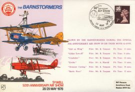 1978 RAFA Air Show Sywell BFPO BARNSTORMERS flown cover rcd44 Very Good condition with insert card. Please see larger photo for details.