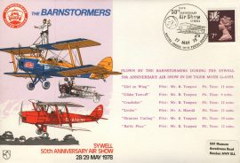 1978 BARNSTORMERS flown cover RAFA Air Show Sywell BFPO rcd45 Very Good condition with insert card. Please see larger photo for details.