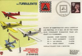 1978 TURBULENTS Bassingbourn Anglo-Amercian Air Festival flown cover rcd46 Very Good condition with insert card. Please see larger photo for details.