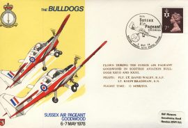 1978 BULLDOGS Sussex Air Pageant GOODWOOD RAF Leeming flown cover BFPO rcd47 Very Good condition with insert card. Please see larger photo for details.