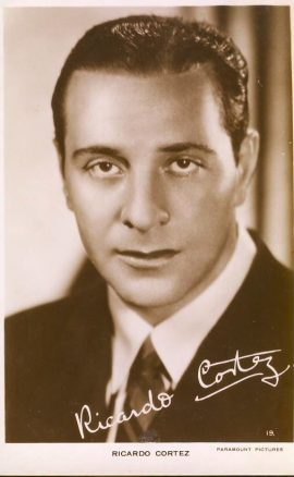 Ricardo Cortez Paramount Pictures photo postcard.An original postcard in good condition for its age. Please see large photo and description for details.  ref135