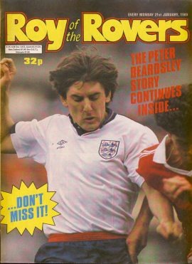 Roy of the Rovers 21st January 1989 Peter Beardsley story part two (2 pages) ref003 Please see full description and photo for more details.