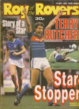 Roy of the Rovers 7th May 1988 Terry Butcher story Part Two (2 pages) ref009 Please see full description and photo for more details.