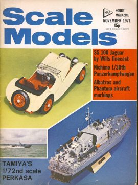 Scale Models Hobby Magazine November 1971 ref001 Please see full decription and photo for details.