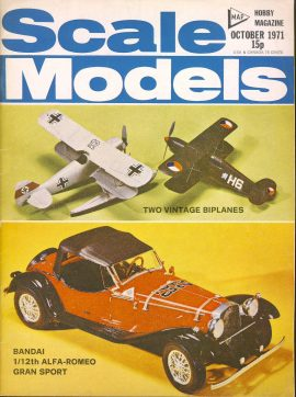 Scale Models Hobby Magazine October 1971 ref002  Please see full decription and photo for details.