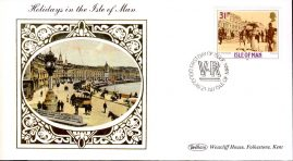 1987 Holidays in the Isle of Man Victorian Collection Benham Small Silk Cover fdi 21st January ref62
