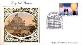 1986 Crystal Palace Victorian Collection Benham small silk cover handstamp 30.11.86 ref64