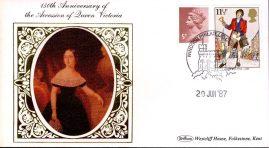 1987 Queen Victoria Accession Anniversary VICTORIAN BRITAIN Benham Small Silk Cover - no insert - ref76