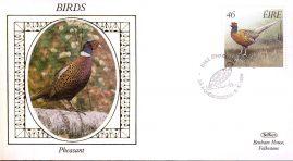 1989 EIRE Pheasant Birds Benham small silk cover - no insert ref94