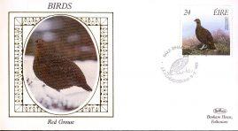 1989 EIRE Red Grouse Birds Benham small silk cover - no insert ref95