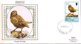 1989 GOUGH BUNTING Birds Benham small silk cover TRISTN DA CUNHA - no insert ref102