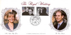 1999 LIMITED EDITION cover no.096 of 125 - LFDC no.178 Royal Wedding A.G. Bradbury Souvenir Cover Prince Edward Sandringham 15.06.99 with Alternative Postmark
