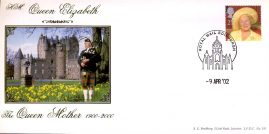 2002 LTD EDITION Queen Elizabeth Queen Mother BRADBURY cover LFDC No.191 - 9th April 02 with Royal Mail Edinburgh cancel - NO INSERT