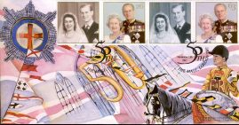 1997-11-13 Limited Edition Royal Golden Wedding Official First Day Cover by The Cover Collection THE MALL SHS refalbB10
