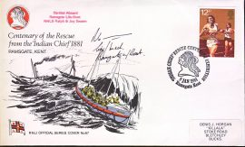 1981 RNLI Official Series Cover No.67 Centenary of Rescue from the Indian Chief 1881 - special handstamp refA408