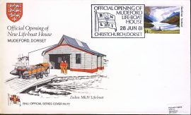 1981 RNLI Official Series Cover no.70 Official Opening of Opening of New Life-boat House Mudeford refA418