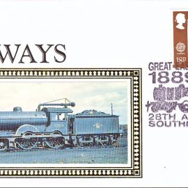 1989 R16 RAILWAYS Benham Small Silk Cover Great Eastern Centenary Southend on Sea Special handstamp refA437