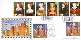 1997-01-21  LIMITED EDITION Hamptosn Court Palace Tudors King Henry VIII Benham Silk First Day Cover Numbered and Certified - see both images. refA440