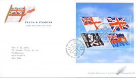 2001-10-22 Flags and Ensigns First Day Cover Tallents House fdi - cover is marked on front - please see large image.  With insert card. refA444