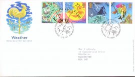2001-03-13 The Weather Royal Mail First Day Cover Edinburgh with insert card. refA446
