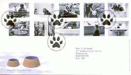 2001-02-13 Cats and Dogs Royal Mail First Day Cover Edinburgh with insert card. refA447