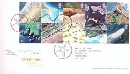 2002-03-19 Coastlines Royal Mail First Day Cover Tallents House fdi with insert card. refA453