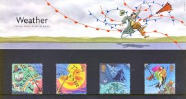 The WEATHER 2001 Presentation Pack Set of Royal Mail Mint Stamps issued 13th March 2001 refA461