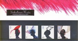 FABULOUS HATS 2001 Presentation Pack Set of Royal Mail Mint Stamps issued 19th June 2001 refA464