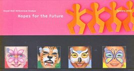 HOPES FOR THE FUTURE (Childrens Rights) 2001 Presentation Pack Set of Royal Mail Mint Stamps 16th June 2001 refA465