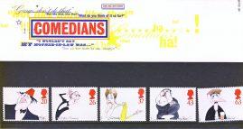 COMEDIANS 1998 Presentation Pack Set of Royal Mail Mint Stamps issued 23rd April 1998 refA467