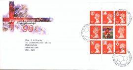 1996-05-14 European Football Championship Booklet Pane Royal Mail FDC Bureau refA471