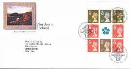 1994 Northern Ireland Booklet Pane Royal Mail FDC Bureau fdi 26 July 1994 refA472