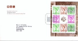 1998 Definitive Portrait Royal Mail Stamp pane FDC with Bureau fdi cancel 10th March 1998 and insert card  refA475