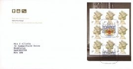 2000 Special by Design Her Majesty's Stamps Booklet Pane Royal Mail FDC with bureau fdi 15 February 2000 cancel and insert card refA480
