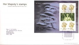 2000 Her Majesty's stamps Minisheet Royal Mail FDC Stamp Show fdi Bureau 23 May 2000 with insert card refA481
