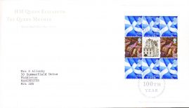 2000 HM Queen Elizabeth The Queen Mother 100th year Stamp Pane Royal Mail FDC with Bureau Edinburgh cancellation 4.8.2000 refA482