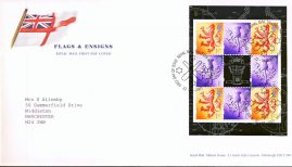 2001 Flags and Ensigns Royal Mail FDC Booklet stamp pane with Tallents House Edinburgh fdi 22.10.2001 refA483