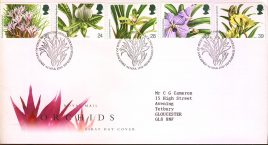 Orchids Conference Royal Mail First Day Cover with Bureau fdi 16 March 1993 and insert card. A490